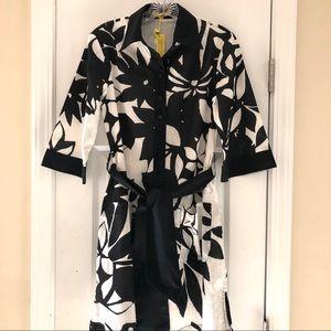 Catherine Malandrino Black  White Flower  Dress